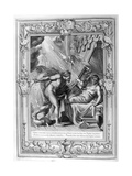 Semele Is Consumed by Jupiter's Fire, 1733 Giclee Print by Bernard Picart