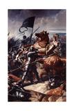 Battle of Castillon, 1453 Giclee-trykk av Charles Philippe Auguste Lariviere