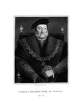 Charles Brandon, 1st Duke of Suffolk Giclee Print by E Scriven