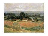 Haystack at Giverny, 1886 ジクレープリント : クロード・モネ