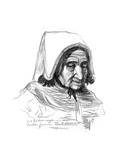 Study of an Old Woman's Head, 1899 Giclee Print by Charles Cottet