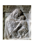 Piazzi Madonna (Virgin and Child), 1420-1430S Giclée-tryk af  Donatello