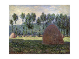 Haystack in Giverny, 1884-1889 Giclee Print by Claude Monet