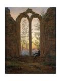 The Dreamer (Ruins of the Oybi), C1835 Giclée-tryk af Caspar David Friedrich
