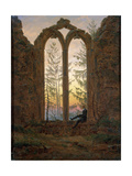 The Dreamer (Ruins of the Oybi), C1835 Gicléedruk van Caspar David Friedrich