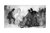 At the Cabaret, 19th Century Giclee Print by Constantin Guys