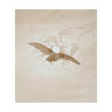Owl Flying Against a Moonlit Sky, 1836-1837 Gicléedruk van Caspar David Friedrich