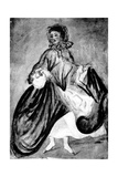 Study of a Woman, 19th Century Giclee Print by Constantin Guys