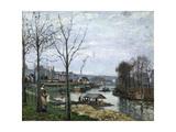 The Laundrette, Port Marly, 1872 Reproduction procédé giclée par Camille Pissarro