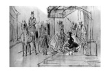 Setting Out, 19th Century Giclee Print by Constantin Guys