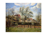 Pear Trees and Flowers at Eragny, Morning, 1886 Reproduction procédé giclée par Camille Pissarro