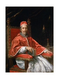Portrait of Pope Clement IX, 1669 Giclée-tryk af Carlo Maratta