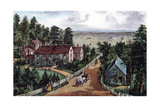 The Western Farmer's Home, 1871 Giclee-trykk av Currier & Ives,