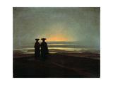 Sunset (Brother), Between 1830 and 1835 Giclée-tryk af Caspar David Friedrich