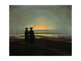 Sunset (Brother), Between 1830 and 1835 Giclee Print by Caspar David Friedrich