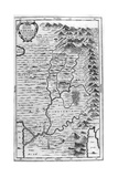 Map of the Garden of Eden, 1675 Giclee Print by Athanasius Kircher