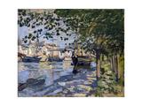 Seine at Rouen, 1872 Giclée-Druck von Claude Monet