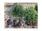 Place Du Théâtre Français in Paris. Spring, 1898 Reproduction procédé giclée par Camille Pissarro