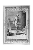 Pygmalion Is Enamoured with a Statue He Has Made, 1733 Giclee Print by Bernard Picart