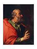 Head of an Old Man' (The Apostle Peter), 17th Century Lámina giclée por Bernardo Strozzi