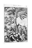 Genealogy Tree of Adam, 1675 Giclee Print by Athanasius Kircher