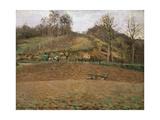 Ploughland, 1874 Reproduction procédé giclée par Camille Pissarro