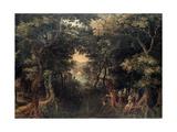 Landscape with the Apostle Philip Baptizing the Eunuch, (1590-1632) Giclée-Druck von David Vinckboons