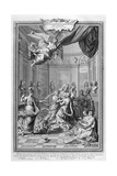 Praise of Academiciens of the Royal Academy of Science... 1728 Giclee Print by Bernard Picart