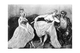 Conversation, 19th Century Giclee Print by Constantin Guys