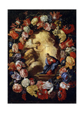 The Annunciation with Flowers, 17th or Early 18th Century Giclée-tryk af Carlo Maratta