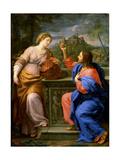 Christ and the Samaritan Woman at Jacob's Well'. C.17th Century Giclée-tryk af Carlo Maratta