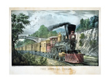 The Express Train, USA, 1870 Giclee-trykk av Currier & Ives,