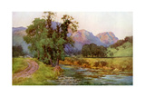 Yewdale Crags, Coniston, Cumbria, 1924-1926 Giclee Print by Cuthbert Rigby