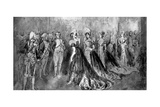At the Court of Napoleon Giclee Print by Constantin Guys