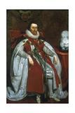 James I, King of England and Scotland, 1621 Lámina giclée por Daniel Mytens