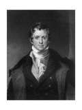Sir Humphrey Davy, Cornish Chemist and Physicist Giclee Print by E Scriven