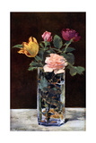Still Life with Roses and Tulips in a Dragon Vase, 1882 Giclee Print by Edouard Manet