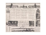 Plans of St Paul's Cathedral, London, 1658 Giclee Print by Daniel King