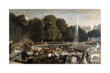 Entry of the Duchess of Orleans in the Garden of Tuileries, 1841 Giclee Print by Eugene Louis Lami