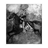 An English Officer, 19th Century Giclee Print by Constantin Guys