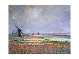 Tulip Fields Near Leiden, 1886 Giclee Print by Claude Monet