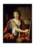 Allegory of Painting (Self-Portrait), 1658 Giclée-tryk af Elisabetta Sirani