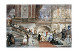 Ball at the Hotel De Ville, 1860 Giclee Print by Eugene Louis Lami