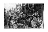 A Street in Alsace, 19th Century Giclee Print by Constantin Guys