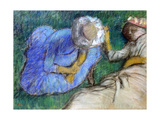 Young Women Resting, Late 19th-Early 20th Century Reproduction procédé giclée par Edgar Degas