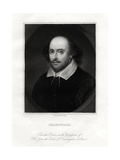 William Shakespeare, English Playwright, 19th Century Giclee Print by E Scriven