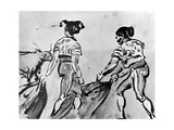 The Bull Fight, 19th Century Giclee Print by Constantin Guys