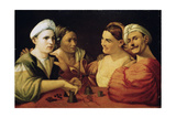 Conjurers, 16th Century Giclée-tryk af Dosso Dossi