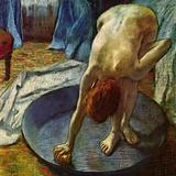 Woman in a Tub, 1886 Giclee-trykk av Edgar Degas