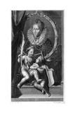 Elizabeth I, Queen of England and Ireland Giclée-Druck von Cornelis Vermeulen
